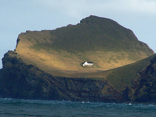 aveypamyupamyu:  The mayor of Iceland gave Bjork this special house in Iceland. Its a little island actually, its not part of Iceland. So Bjork really lives in her own country. This is Bjork's house. This is where Bjork lives.