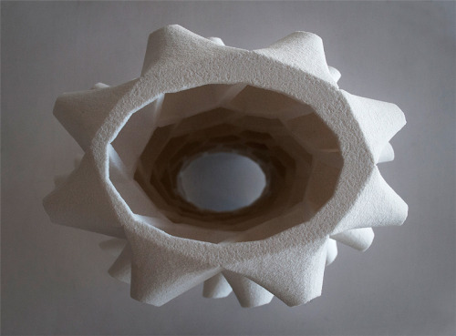 The Hex Towerfabricated from 3D Printable salt The Hex Tower  fabricated from 3D Printable maple hardwood  via+ made by: Emerging Objects— a subsidiary of RAEL SAN FRATELLO ARCHITECTS