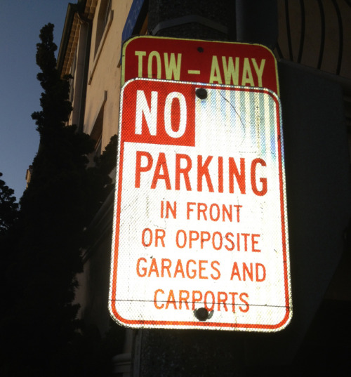 In other words: No street parking Manhattan Beach