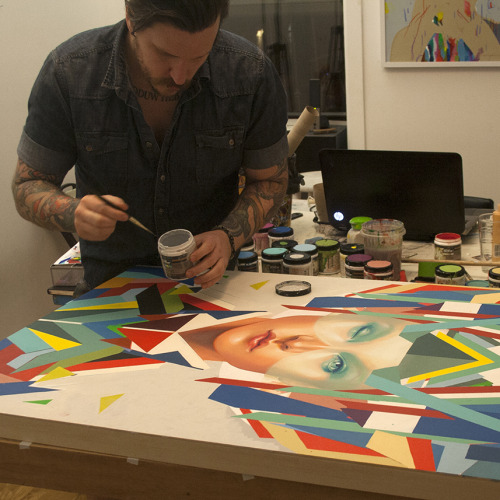 erikjonesart:  Hard at work in the studio