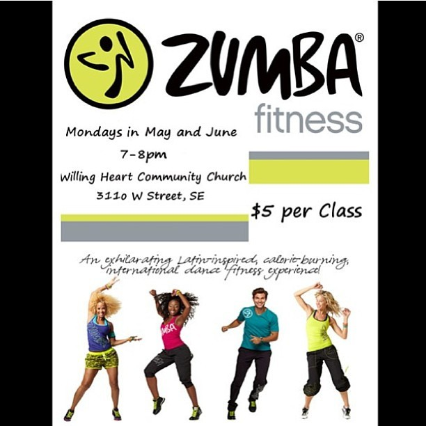 Join me and @teonnablues for Zumba Victory at Willing Heart Community Church. Mondays in May and June. Only $5!!!!! Bring ya friends family and enemies #zumba #zumbaforjesus #jesuszumba #fitforthekingdom #instazumba #instafit #dc #dmv #instaworkout #igfitness #zumbaworship