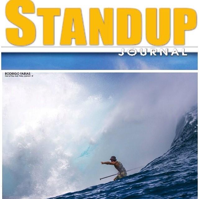 Foto y Doble Página para la última edición de @standupjournal el maestro #PotoDavid en #Teahupoo #SUPTahiti
