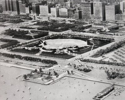 Proposal for an unrealized amphitheater in Grant Park, 1940's, Chicago