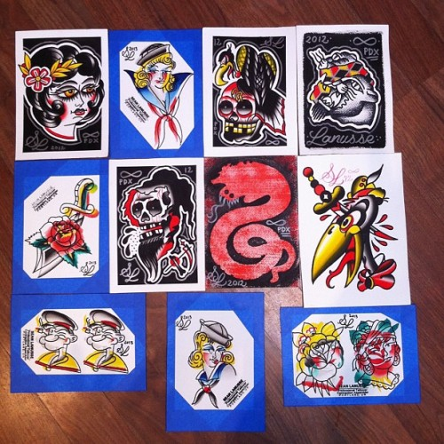 5x7 paintings for sale $50 +s/h. Email : seanlanusse@gmail.com #tattoos #painting #hashtag #handmade  (at Infinity Tattoo)