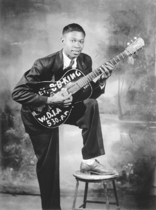 BB KING | BLUES LEGENDSA young Riley B. King (born September 16, 1925), known by the stage name B.B. King holding one of the predecessors of his famed guitar, Lucille. Black History Album, The Way We WereFollow us on TUMBLR  PINTEREST  FACEBOOK  TWITTER