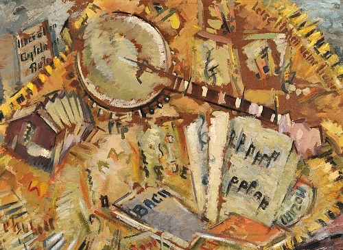 Harley Perkins Still Life with Banjo 20th century