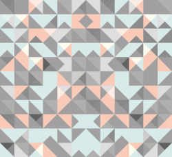 Triangular Pattern Art Print by Leandro Pita | Society6