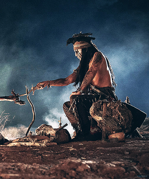thedepp:  Johnny Depp as Tonto in Disney's The Lone Ranger