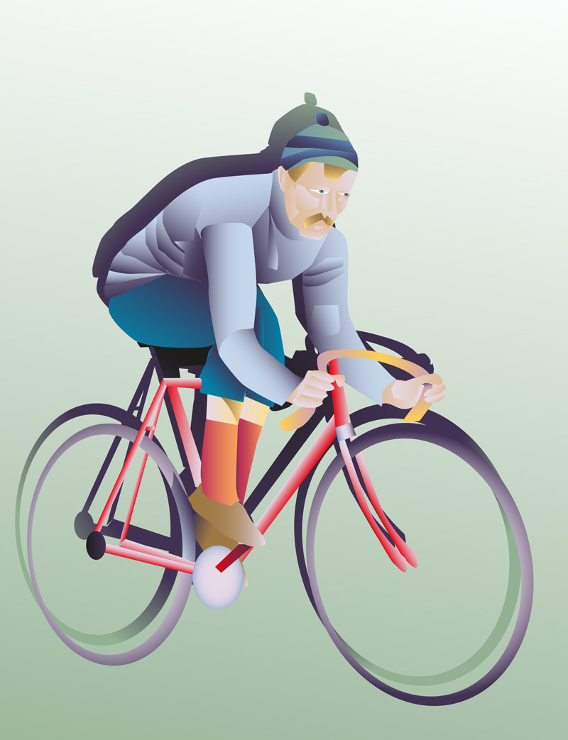 Illustration by Benjamin Cullimore The Cyclist