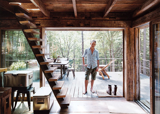 bunny-feets:  cjwho:  Unplugged by Scott Newkirk - A one-room cabin in the woods pulls the cord on modern living in New York.