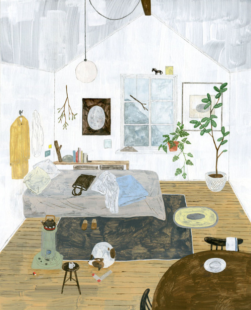 widewhitestairs:  warm room by Fumi Koike