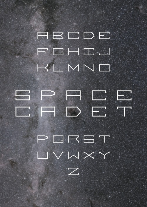 Space Cadet Typeface by Kevin Carter ————————get your work featured by submitting it to designersof.com