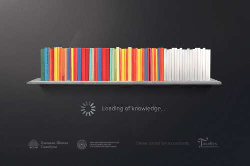 yoannmichaux:  Loading of Knowledge. Online School of Glavbukh Ad by SmartHeart