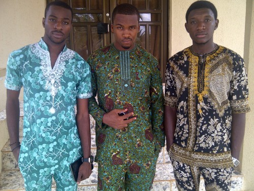 Custom made Traditional Igbo apparel. Taken in Imo, Nigeria. submitted by: IntellectualDude