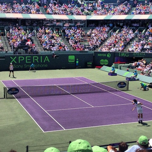 #sonyopentennis Murray V. Ferrer (at Sony Ericsson Open Stadium Court)