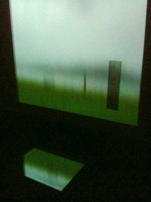 new work/ dark space projection