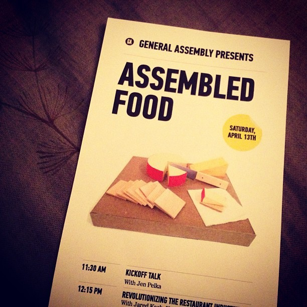 Rad day today @generalassembly #assembledfood w/ @bonappetitmag @ugeats @tumblr @seriouseats @wholefoodsmarket and more! #latergram  (at General Assembly East)