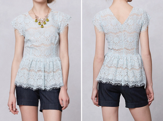 [Katrine Peplum Top by Anthropologie]
