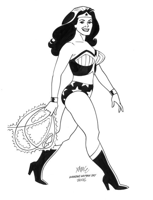 white-ape:  Wonder Woman by Jaime Hernandez