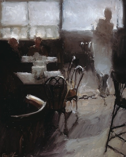 nearlya:  Danny McCaw. Cafe in Paris, 2012