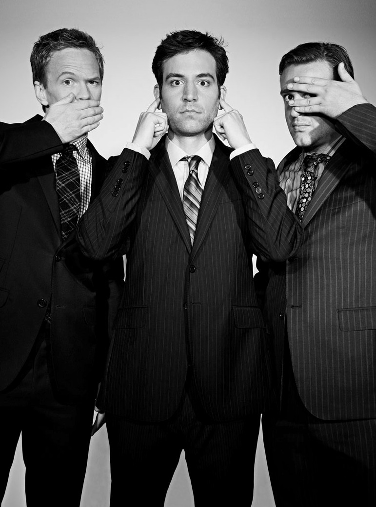 erectdaddy:  uncuntcious:  Neil Patrick Harris, Josh Radnor and Jason Segel  FAVORITE ILY BOYS
