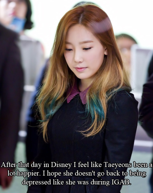 taegangers:  Quite true… Hope her interaction with fan made her cheer up… We'll always be behind you Taeyeon…