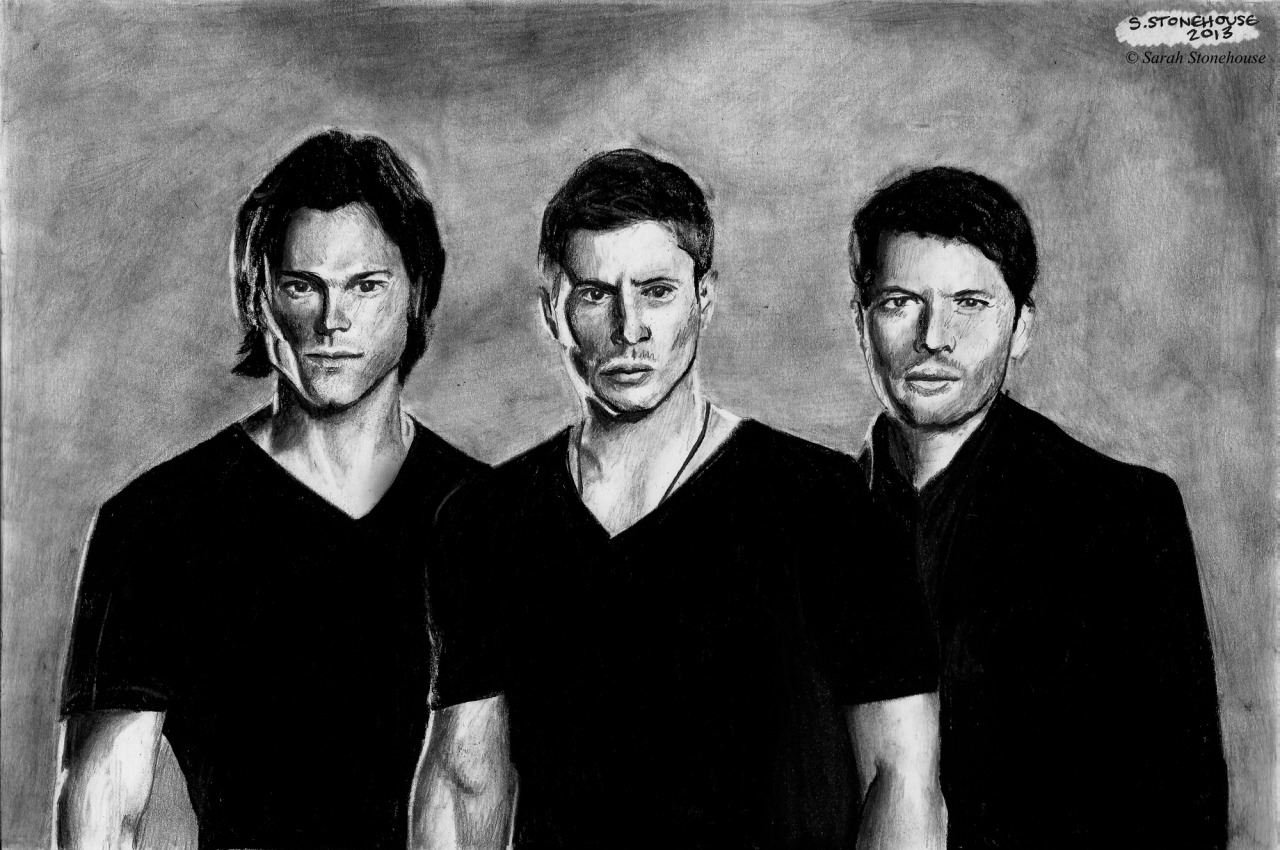 SupernaturalGraphite A4Drawn by Sarah Stonehouse