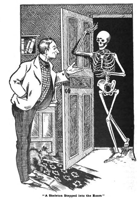 zoomar:  A Skeleton Stepped in the Room