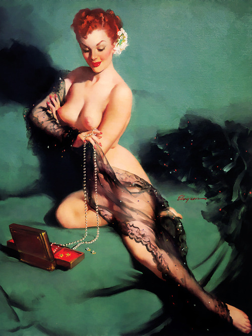 "vintagegal:  ""Fascination"" by Gil Elvgren, 1952"