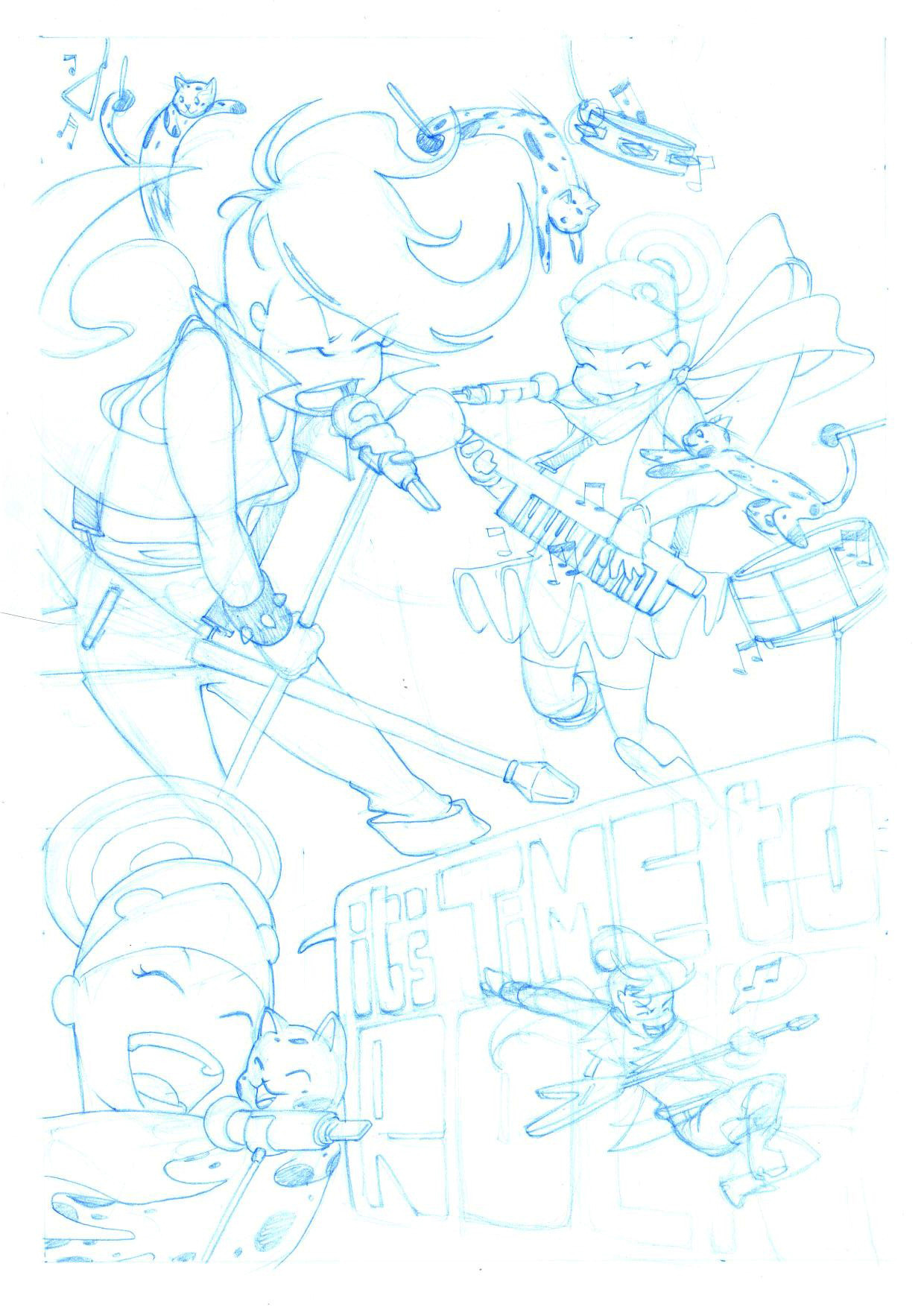 kellysue:  cpedro-illustration:  blue pencils for the second page of Winter's tale.  Fantastic!