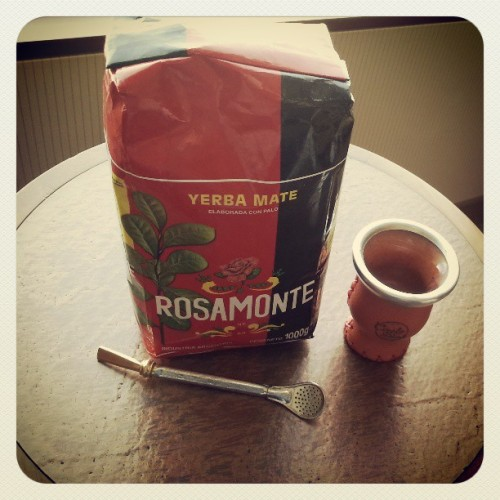 About to try some #rosamonte #yerbamate for the first time… salud!