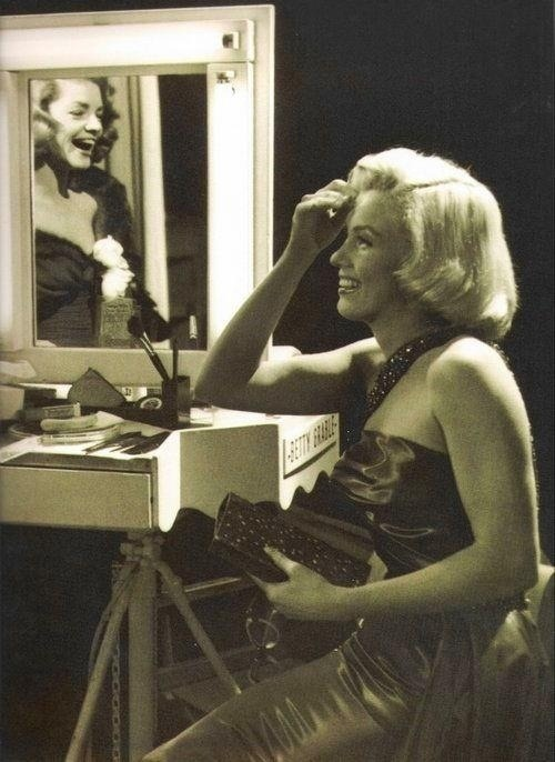 theniftyfifties:  Marilyn Monroe and Lauren Bacall