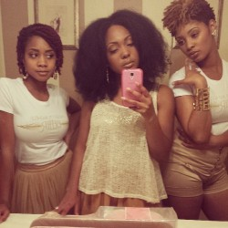 mynaturalsistas:  About to record! #naturalhair #mynaturalsistas #celebrate #music #better @chrisettemichele