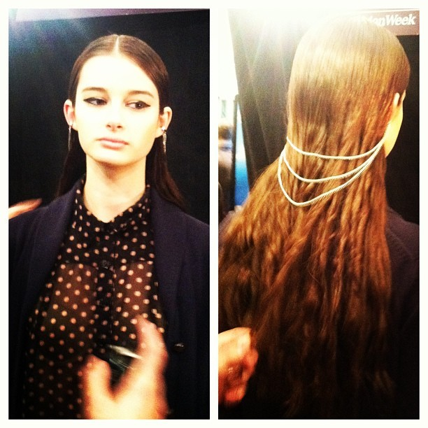 NEW YORK FASHION WEEK: MARA HOFFMAN STYLE NOTES - CHECK OUT THE COOL HAIR CHAIN!