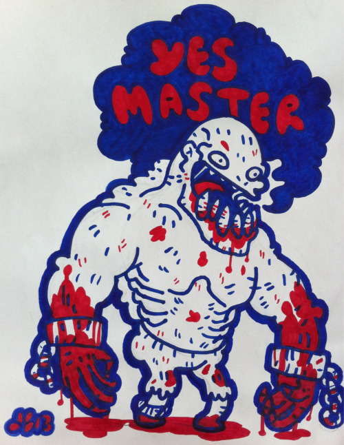 """Yes master."" LifeStealer / Naix from Dota2. Sharpies."