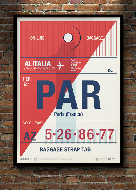 boogiesbc:  Flight Tag Prints by Neil Stevens