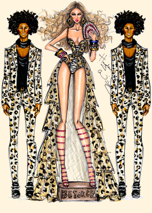 haydenwilliamsillustrations:  Beyoncé - Grown Woman by Hayden Williams   & the Les Twins <3