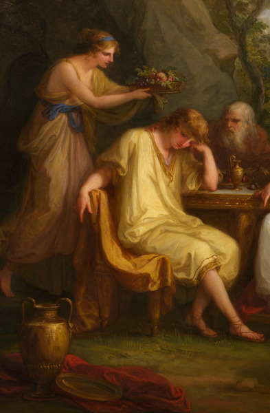 jaded-mandarin:  The Sorrow of Telemachus - Angelica Kauffmann, 1783. Detail.