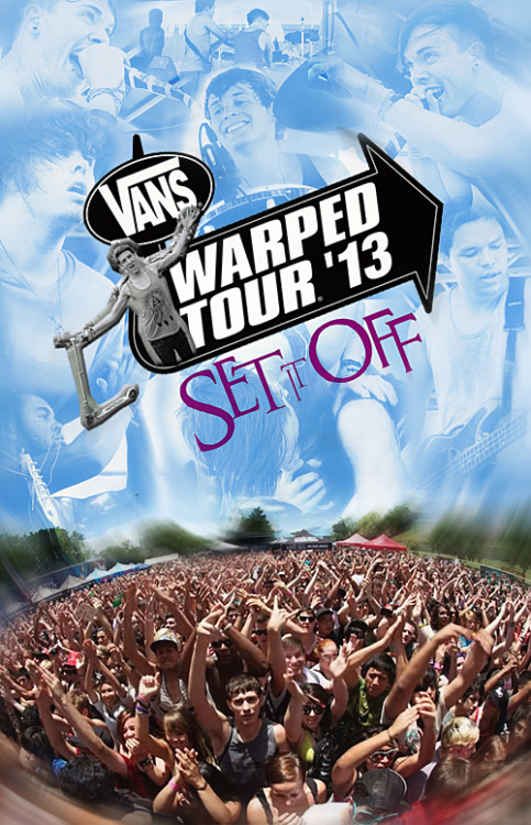 fuckyeahsetitoff-:  Fun Fact Friday // Set It Off on Warped Tour 2013! Haven't seen the boys in a while? Whether it was from their shows being on a school night or simply the fact that they didn't make it to your city on tour? No worries, now's your chance! Set It Off will be on all dates of Warped Tour 2013 this summer. Don't miss out, get your tickets now!