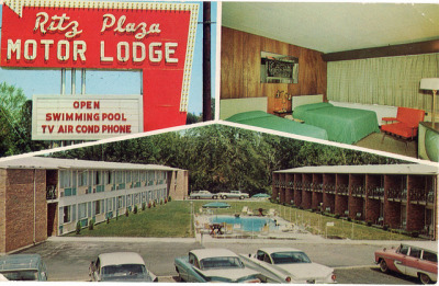 Ritz Plaza Motor Lodge Terre Haute Indiana by SportSuburban on Flickr.