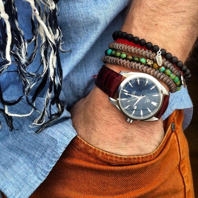 Leather & Bead Bracelets by Oskar Gydell