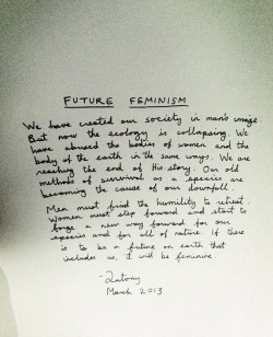 animinimalism:  Handwritten note left in each seat by Antony Hegarty at the Givenchy Fall Winter 2013 show