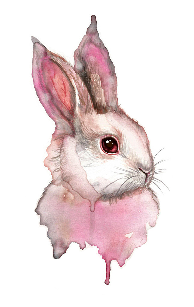 red-lipstick:  Monica Loya - Vomite Un Conejito (Vomit A Bunny?), 2012                               Paintings: Watercolors http://www.flickr.com/photos/monicaloya/8326511099/sizes/l/in/photostream/