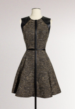 somesayitsserena:  Ordered this puppy. It's a tweed and leather J.mendel dress, I love it!
