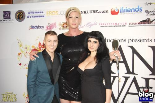 James Darling, Morgan Bailey and Arabelle Raphael on the red carpet at the awards