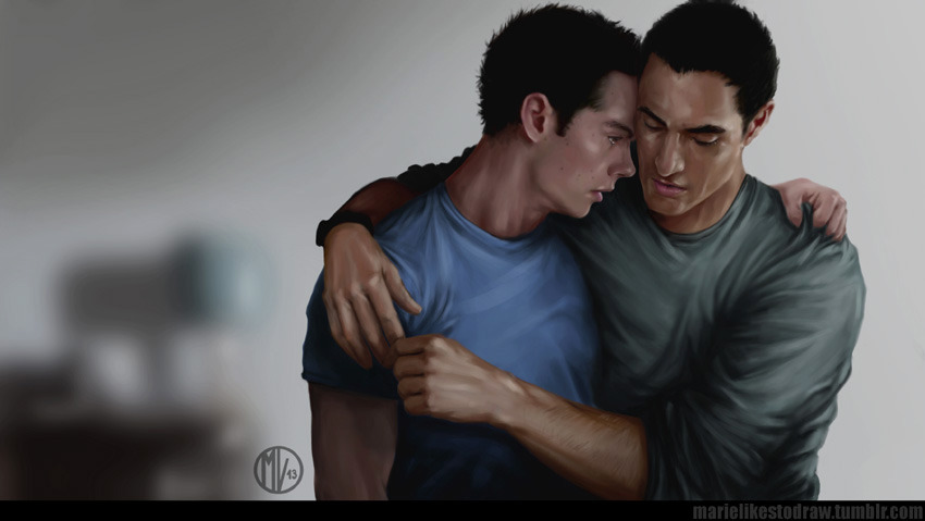 "daunt:  marielikestodraw:  ""Respite"" I'm back :) (I think ahaha!)This is a little project I've been working on for a while, I wrote a little fic and painted art to go with it (how indulgent of me). Just click on the title above to read it on AO3. /hidesThis is about Stiles, and Danny, and being human. Could be considered pre-relationship…I hope you enjoy it :)(as usual, reblog is love, but please please don't repost art in a new post/use without asking me. <3 and please don't delete the text above, considering link to fic and all :D)  Guys look at how amazing this is. LOOK AR IT and also please go read the fic because the fic is FANTASTIC. *u* Damn it Marie, you can do everything!  can i just say how fucking GOOD it feels to see Danny?canon queer PoC front and center."