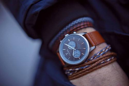 Our #Walter #Nevil looking good on Nicolas André. Buy it here:http://triwa.com/en/watches/walter-nevil