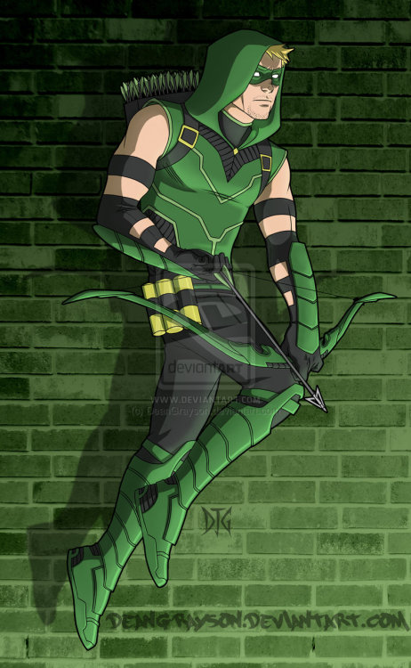 deandraws:  Green Arrow for Kazecoyote by *DeanGrayson