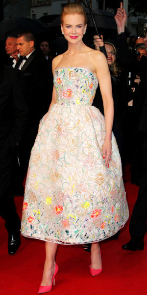 tallgirltales:  Party Dress du Jour: Nicole Kidman in Christian Dior (Spring 2013 Couture) at the Cannes premiere of The Great Gatsby. She finished the look with Dior pumps and a Ferragamo clutch.