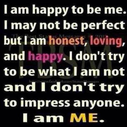 I am ME.😜 #happy #contented #love #smile #quoteoftheday